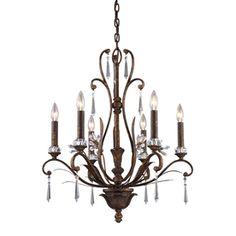 Westmore Lighting�6-Light Burnt Bronze Crystal Chandelier