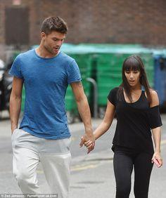 Fellow lovebirds: Aljaz Skorjanec and Janette Manrara also went hand-in-hand during their break