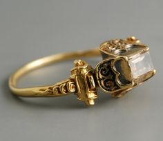 fabian de montjoye gold and diamond renaissance ring. late 16th century.