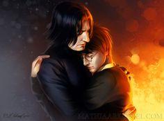 hp: Harry Potter and Severus Snape by *MathiaArkoniel on deviantART