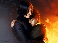 hp: Harry Potter and Severus Snape by *MathiaArkoniel on deviantART