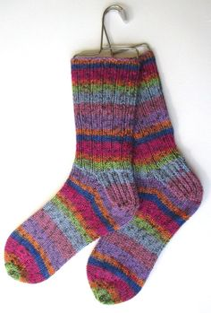 Wool Socks Hand Knit for Women Girls pink purple by BellaBlueKnits, $28.00