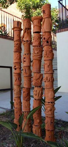 ceramic garden totem via google search