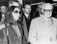 In compagnia di Sandro Pertini nel 1973 - Foto - Oriana Fallaci