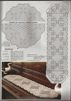 Best 12 Kira scheme crochet: Scheme crochet no. Crochet Patterns Filet, Crochet Table Runner Pattern, Crochet Motifs, Crochet Tablecloth, Crochet Designs, Crochet Doilies, Crochet Stitches, Oval Tablecloth, Knitting Patterns