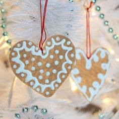 DIY Felt Ginger Cookie Ornaments - Home - Creature Comforts - daily inspiration, style, diy projects + freebies