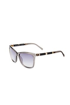 7450cec5845 Hannah Square Sunglasses in Grey Crystal