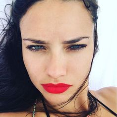 Pin for Later: 9 Lip Colors You Need This Summer as Modeled by Adriana Lima