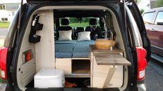 Dodge Caravan Minivan, Car Camper, Mini Camper, Camper Life, Grand Caravan, Caravan Van, Minivan Camper Conversion, Conversion Van, Build A Camper Van