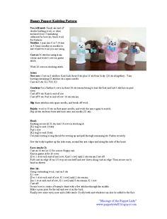 Bunny puppet knitting pattern