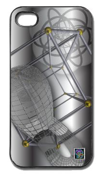 """""""Stereographic Klein Schlegel""""(c) on an iPhone cover.  (c) 2013 Textiles for Thinkers, LLC.  All Rights Reserved."""