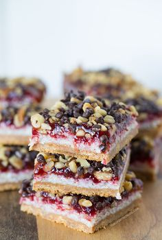 These raspberry coconut bars are every coconut and raspberry lover's dream! It will satisfy any sweet tooth! Substitute any berry to change up this recipe!