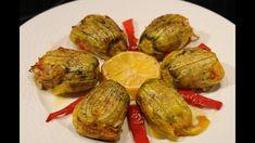 κολοκυθοανθοί γεμιστοί με ρύζι cuzinagias pumpkin flowers stuffed with r...