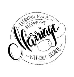 Marriage / no regrets / precept upon precept / logo / stamp / design / art / artist / minimalist / black and white / minimalist / calligraphy / hand-lettering / hand lettered / pen / nib / brush lettering