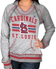 "St. Louis Cardinals Women's Majestic ""Slugger"" Hooded Sweatshirt #Majestic #StLouisCardinals"