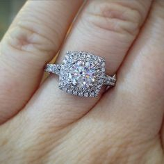 Verragio double halo engagement ring