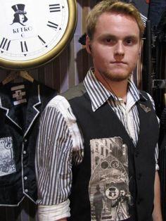 Steampunk vest waistcoat by Retro G Couture Dandy magician carnival gothic Victorian circus ringmaster alternative men's avant Garde fashion style Aristocrat visual kei