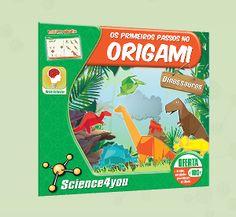 OS PRIMEIROS PASSOS NO ORIGAMI - DINOSSAUROS   Descobre: - O que é o Origami - Em que país surgiu esta técnica - Como podes construir um T-rex apenas com um pedaço de papel - Como fazer mais de 20 dinossauros em Origami, através de dobragens de papel