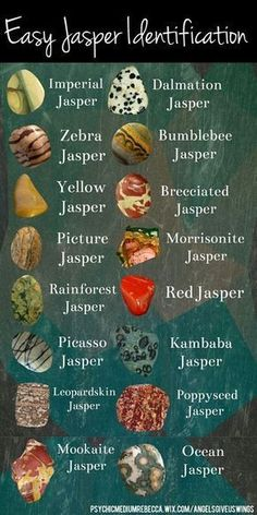Different kinds of jasper.
