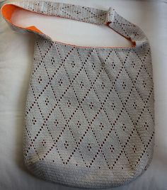 Bolso de rombos / Crochet diamond bag Tutorial ~k8~