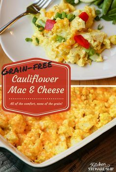 Healthy, Low-Carb Cauliflower Mac and Cheese Recipe: Perfect for grain-free or low-carb diets and busy working moms