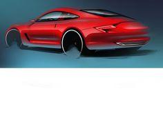 Porsche car design sketch by Moritz Anton