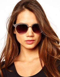 Have fun with your sunglasses! Embellished Classic Retro shades from Asos