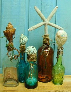 Nautical bottles! Deck out your bottle collection.