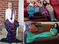 Crochet Mermaid Tail Blankets Free Patterns