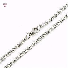 """Kuniu 3/4/5/mm 20 """"/22""""/24 """"mens jóias tons de prata aço inoxidável colar de corrente quente(China (Mainland))"""