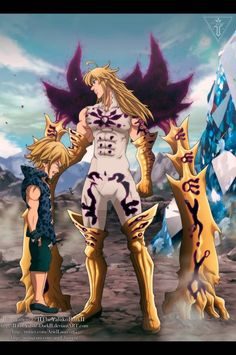 Galeria Otaku Anime, Anime Naruto, Manga Anime, Seven Deadly Sins Anime, 7 Deadly Sins, Demon King Anime, Seven Deady Sins, Wallpaper Naruto Shippuden, Bleach Anime
