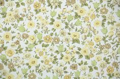 Retro Wallpaper by the Yard 60s Vintage by RetroWallpaper on Etsy