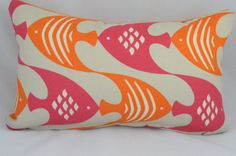Pink and Orange Lumbar Cushion Cover   https://www.etsy.com/ca/listing/239733943/hot-pink-and-orange-indoor-outdoor