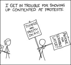 """The End is Not for a While - xkcd - Alt Text: """"I THINK EVERYONE INVOLVED HERE IS CUTE"""""""