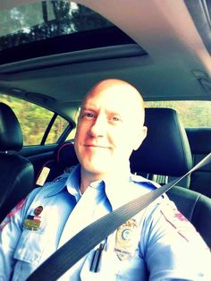 Officer Jason Harrelson at Raleigh Police Department Off to work.