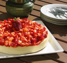 New York Cheesecake with Fresh Strawberries by photoklim, via Flickr