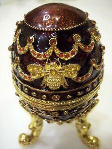 New Collette Et Cie Musical Egg Jewelry Music Box Unique