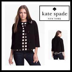 ✨HP✨♠️KATE SPADE 'Ellie' Crop Jacket KATE SPADE 'Ellie' Crop Jacket. NWT kate spade Jackets & Coats