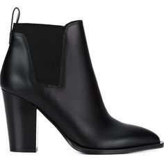 Vince elasticated panel ankle boots ($380) ❤ liked on Polyvore featuring shoes, boots, ankle booties, black, vince boots, black bootie, bootie boots, black ankle bootie and black booties