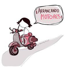 ¡Aaaarrancando motores! ¡Bueeen día y semana pipol of the mundo mundial! #EeeeegunonMundo!! #lunes #inktober #inktober2017day23