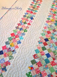 Quilting cables with a walking foot on bloominginchintz.blogspot.com