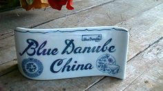 BLUE DANUBE Sign Display for Blue Onion China Pattern SHELF SITTER MARKER nice! #BLUEDANUBE