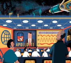Tom Cole and his mission to illustrate the most famous race in history. Cosmos, Tom Cole, Space Race, Apollo 11, Illustratore, Illustration Art, Racing, History, Inspiration