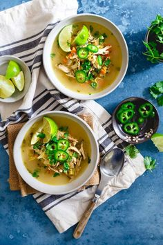 This spicy chicken lime soup is like chicken noodle meets chicken tortilla soup for a spicy, noodle-less middle ground perfect for a cold winter day.
