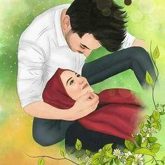Halal couple pin muslim couples animated ❤ in 201 Love Cartoon Couple, Cute Couple Art, Cute Love Cartoons, Anime Love Couple, Cute Muslim Couples, Romantic Couples, Cute Couples, Sarra Art, Muslim Couple Photography