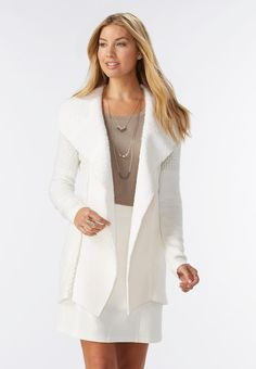 248ac2af6d1 Add a luxe touch to your outfit with this sherpa trim cardigan
