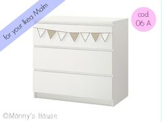 Personalize your Malm Ikea with Monnys stickers! on etsy.com/shop/Monnyshouse