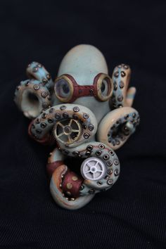 Polymer Clay Steampunk Octopus by shelbyisathug on Etsy, $75.00