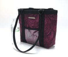 Purple Quilted Purse Handmade Handbag Tote by TwistedThreadsQuilts