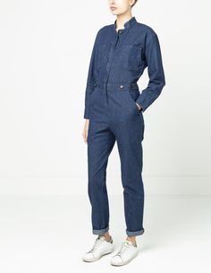 Spry Denim Boiler Suit | Spry Workwear Boiler Suit, Jeans Button, Collar And Cuff, Workwear, Indigo, Jumpsuits, Overalls, Fashion Looks, Plus Size